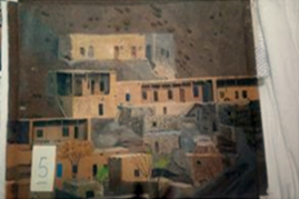 By: Mitra Mehdipour<br /> Acrylic Village in remote area